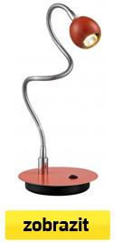 ohebná led stolní lampa oranžová