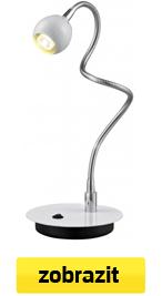 ohebná led stolní lampa bílá