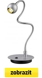 ohebná led stolní lampa stříbrná