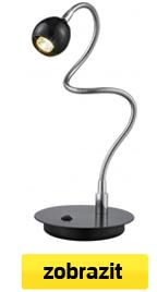 ohebná led stolní lampa černá