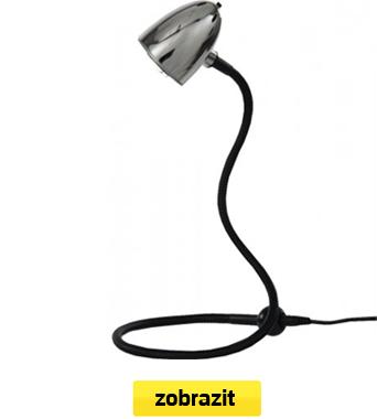 lampička flexi stříbrná